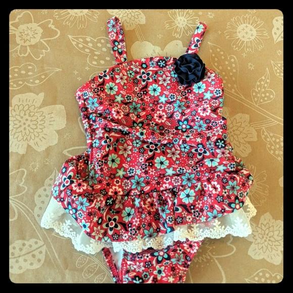 965e89daff Cat & Jack Swim | Adorable Cat Jack Floral Lace Suit 12month | Poshmark